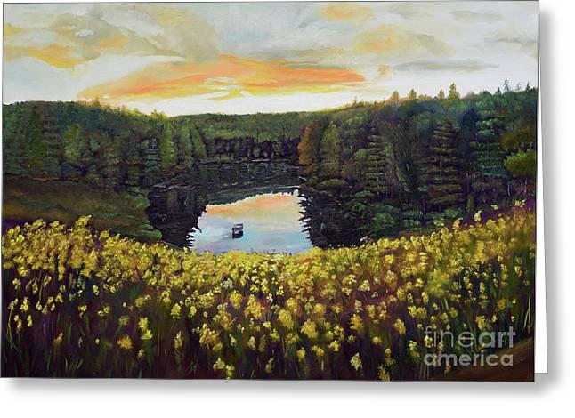 Goldenrods On Davenport Lake-ellijay, Ga  Greeting Card