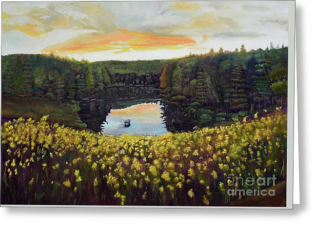 Goldenrods On Davenport Lake-ellijay, Ga  Greeting Card