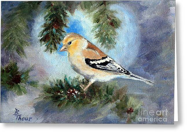 Goldfinch In A Tree Greeting Card