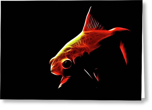 Goldfish 2 Greeting Card by Tilly Williams