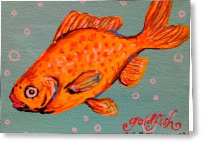Goldfish Greeting Card by Emily Reynolds Thompson