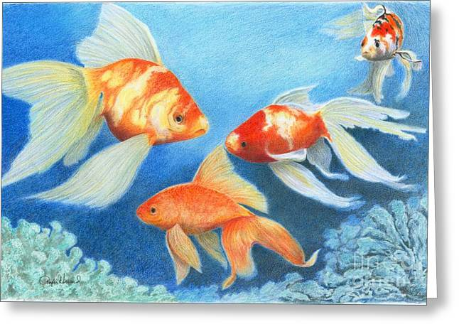 Goldfish Tank Greeting Card