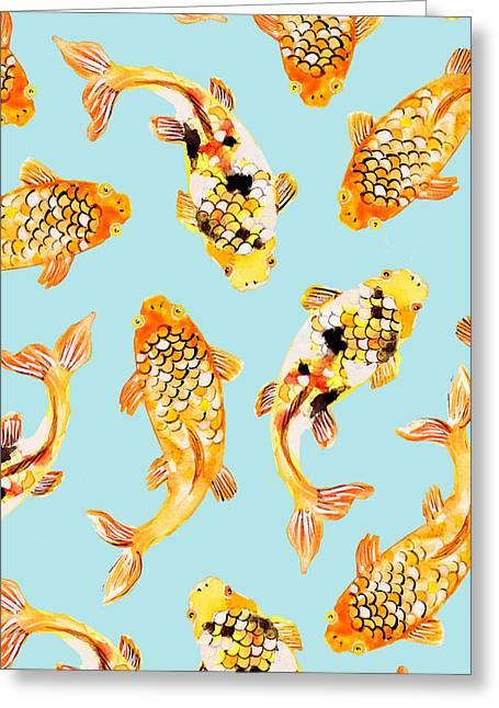 Goldfish Greeting Card by Uma Gokhale
