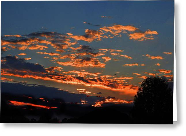 Greeting Card featuring the photograph Goldflake Sunset by Mark Blauhoefer