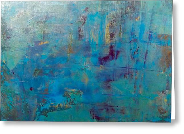 Goldnblue#46 Greeting Card by Original Art For your home