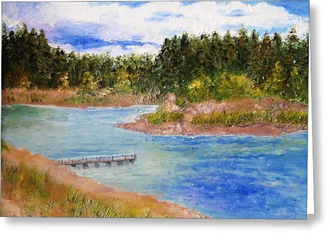 Prescott Paintings Greeting Cards - Goldwater Lake Greeting Card by Jamie Frier