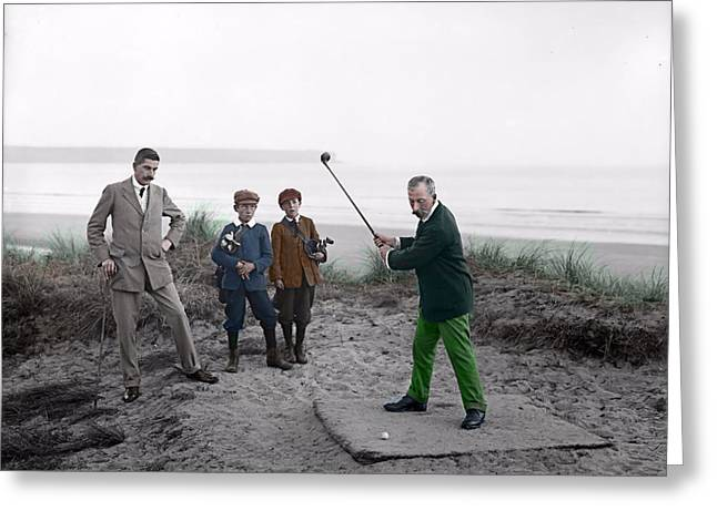 Golf 1907 Dream Greeting Card