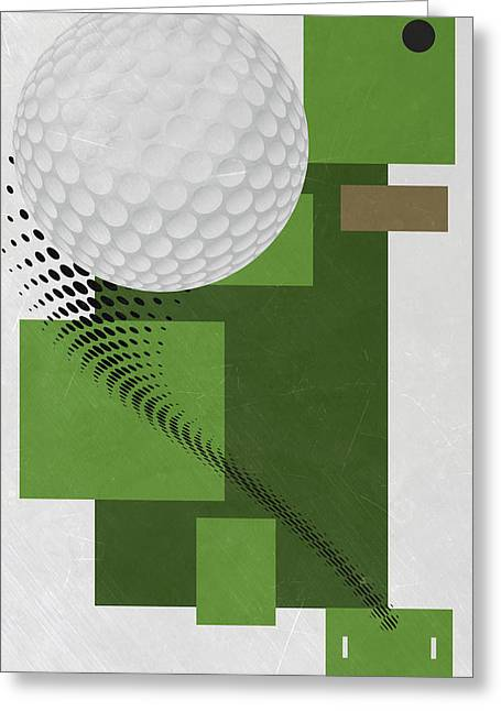 Golf Art Par 4 Greeting Card