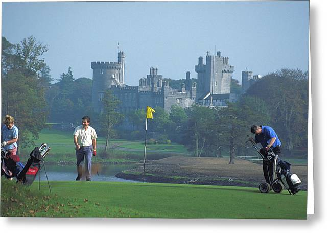 Golf At Dromoland Castle In Ireland Greeting Card by Carl Purcell