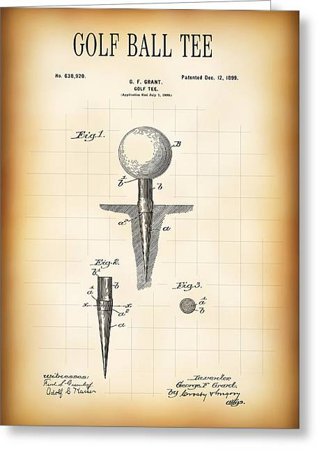 Golf Ball Tee Patent  1899 Greeting Card