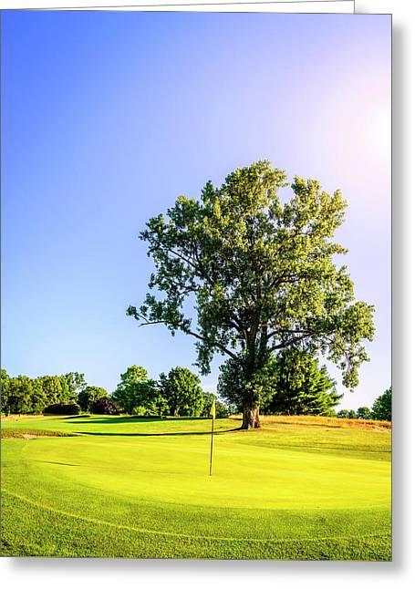 Greeting Card featuring the photograph Golf Course by Alexey Stiop