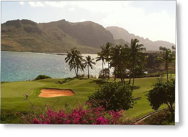 Golf Course Greeting Card by Alohi Fujimoto