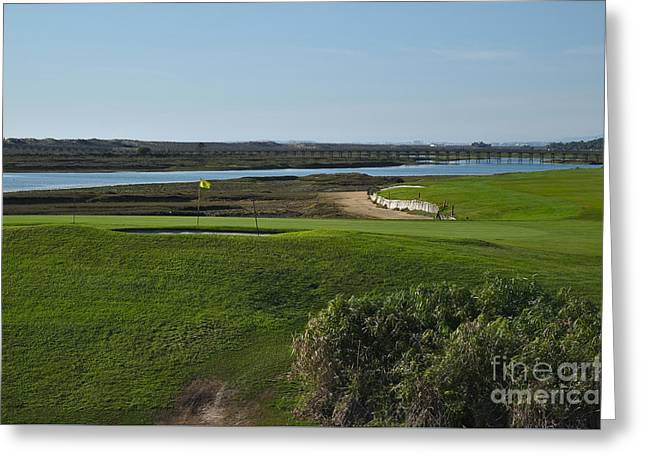 Golf Course And Ria Formosa In Quinta Do Lago Greeting Card by Angelo DeVal