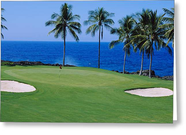 Golf Course At The Oceanside, Kona Greeting Card