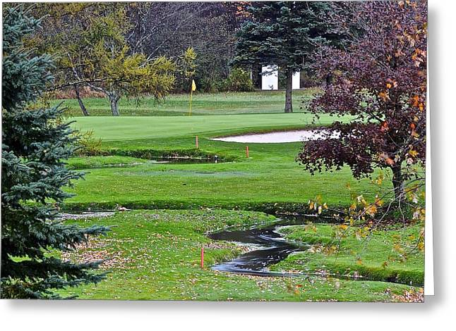 Golf Course Hazards Greeting Card