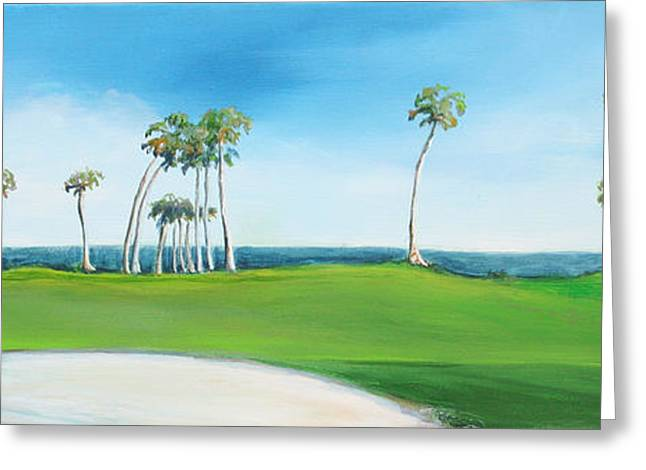 Golf Course With Palms Greeting Card by Michele Hollister - for Nancy Asbell
