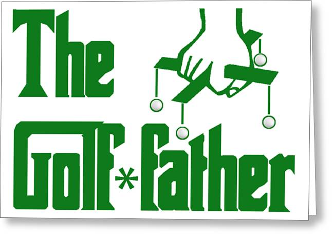 Golf Father Greeting Card by Roger Smith