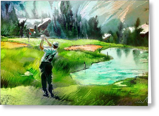 Golf In Crans Sur Sierre Switzerland 01 Greeting Card