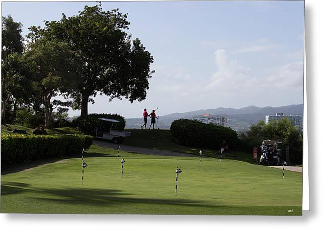 Golf In Paradise Greeting Card
