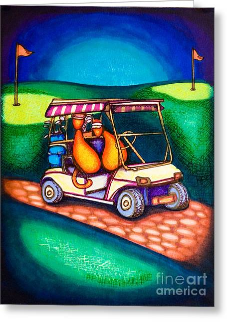 Golf Kats Greeting Card