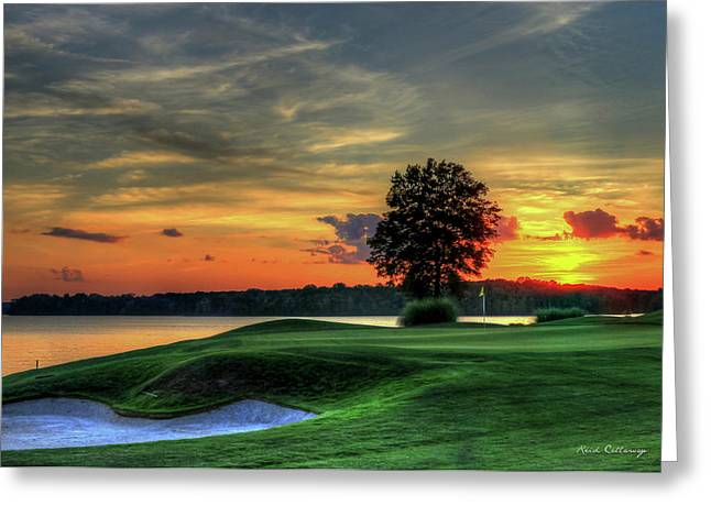 Golf Lake Oconee Reynolds Landing Art Greeting Card by Reid Callaway