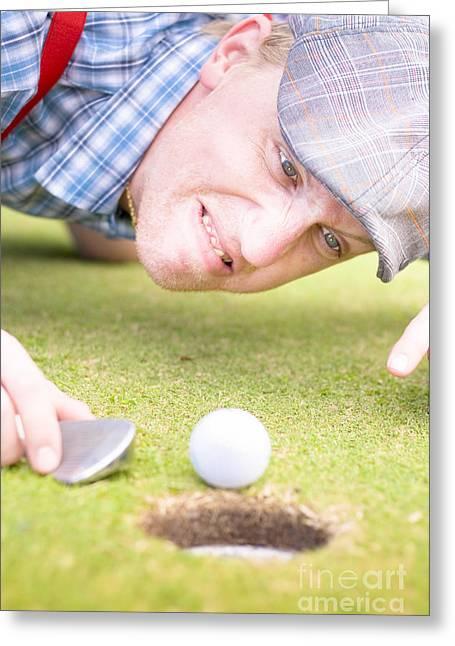Golf Lunatic Greeting Card