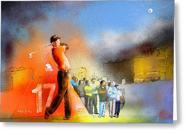 Golf Madrid Masters 01 Greeting Card by Miki De Goodaboom