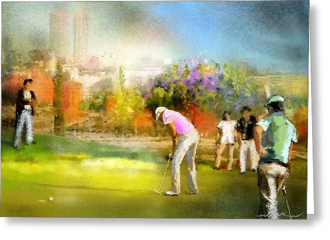 Golf Madrid Masters  02 Greeting Card by Miki De Goodaboom