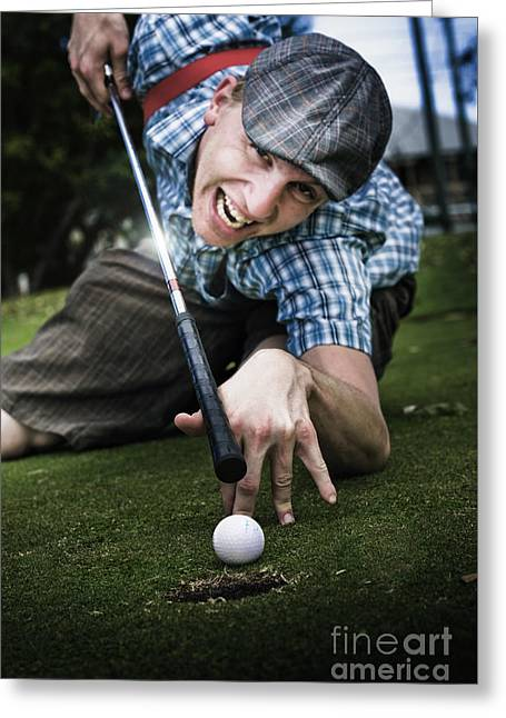 Golf Or Pool Greeting Card by Jorgo Photography - Wall Art Gallery