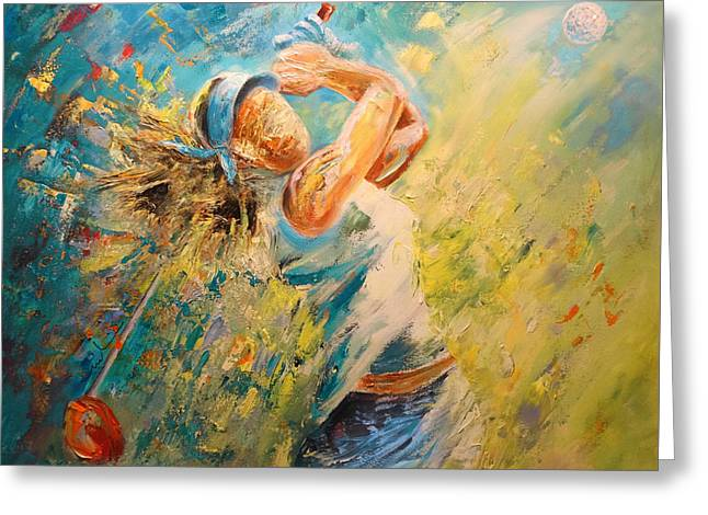 Golf Passion Greeting Card