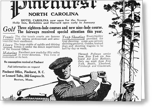 Caddy Greeting Cards - Golf: Pinehurst, 1916 Greeting Card by Granger
