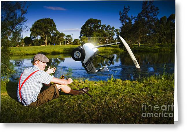 Golf Problem Greeting Card
