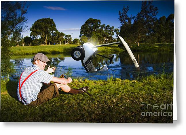 Golf Problem Greeting Card by Jorgo Photography - Wall Art Gallery