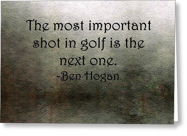 Golf Quote Greeting Card