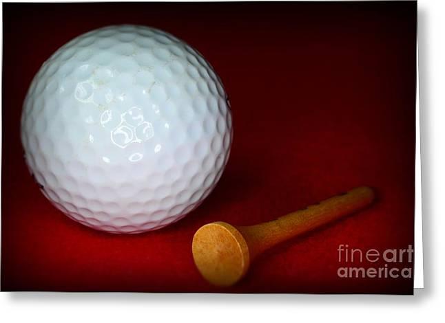 Golf - Tee Time Greeting Card