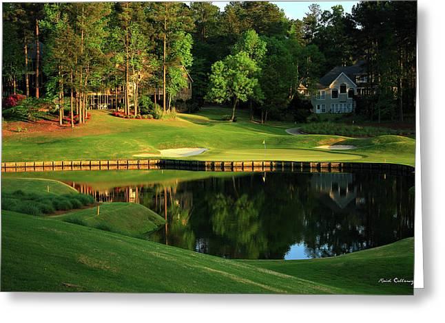 Golf The Landing #3 Reynolds Plantation Lake Oconee Ga Art Greeting Card