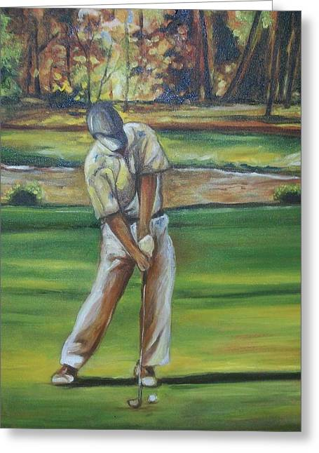 Greeting Card featuring the painting Golf Tips by Emery Franklin