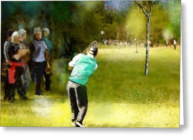 Golf Vivendi Trophy In France 02 Greeting Card by Miki De Goodaboom