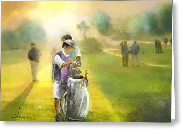 Golf Vivendi Trophy In France 03 Greeting Card by Miki De Goodaboom