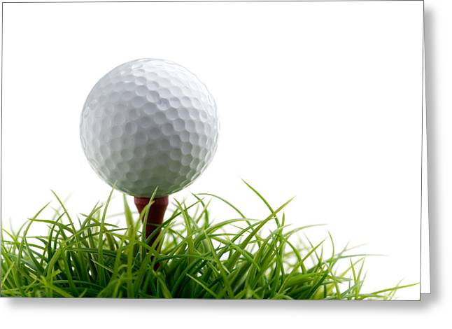 Golf Photographs Greeting Cards - Golfball Greeting Card by Kati Molin