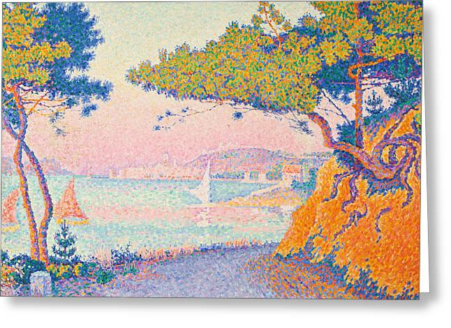 Golfe Juan Greeting Card by Paul Signac