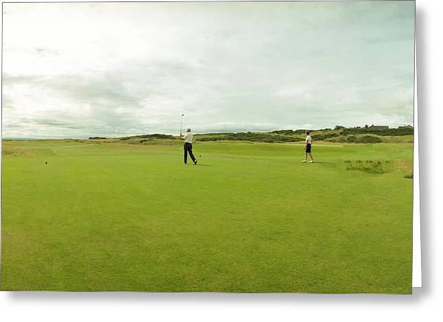 Golfers' Day Out Greeting Card by Jan W Faul