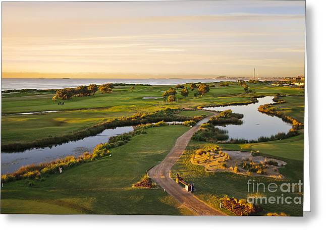 Golfing At The Gong II Greeting Card