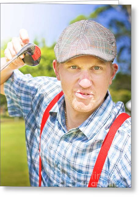 Golfing Dispute Greeting Card
