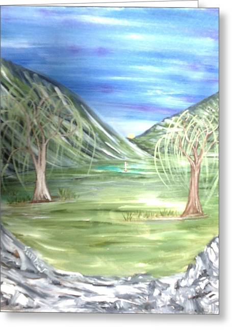 Golfing In Glacier Greeting Card