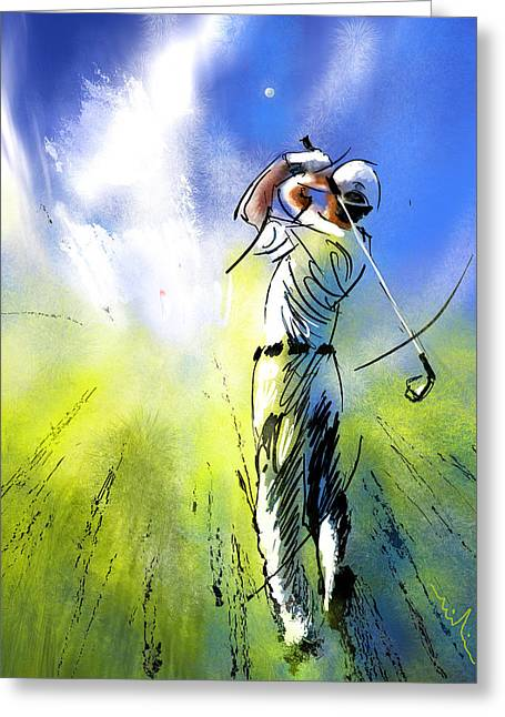 Golfscape 01 Greeting Card