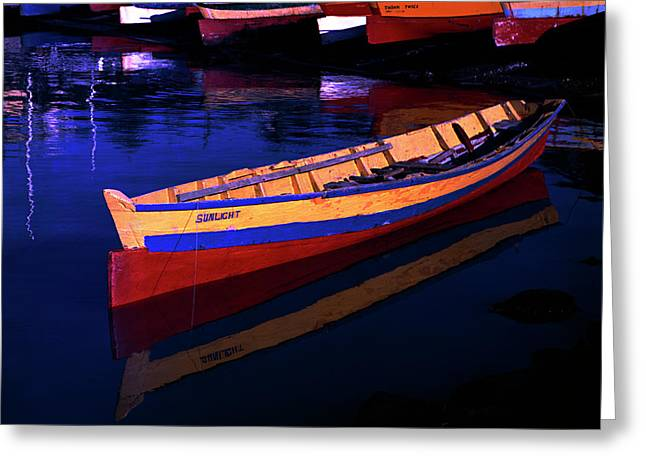 Gomier Canoe-st Lucia Greeting Card by Chester Williams