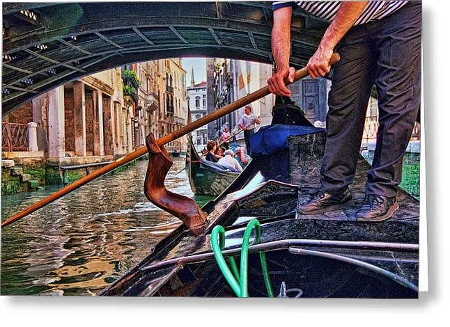Greeting Card featuring the photograph Gondola 2 by Allen Beatty