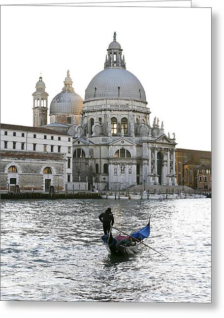Gondola Alla Salute Greeting Card