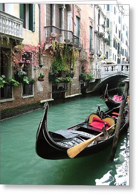Gondola By The Restaurant Greeting Card